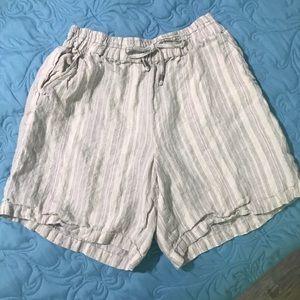 Anthropologie Linen Shorts